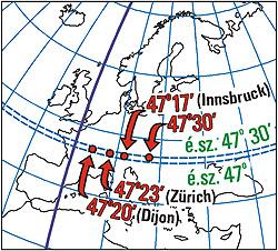 magyarország térkép szélességi fokokkal Szélesség és hosszúság — :: ELTE   TEGETA :: Kartográfiai  magyarország térkép szélességi fokokkal